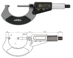 45-digital outside micrometer kinex